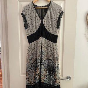 ANNA SUI DESIGNER Maxi Dress US8 AUS12